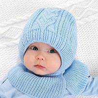Детские шапочки-капоры с растягивающейся манишкой