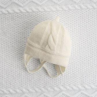 Детские бесшовные шапочки Журавлик